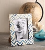 Maison Collection Blue MDF 7 x 2 x 9 Inch Photo Frame
