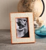 Maison Collection Ivory MDF 6 x 2 x 8 Inch Orange Lining Photo Frame
