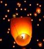 Go Hooked Orange Rice Paper Make a Wish Sky Lantern