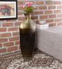 Malik Design Brown Metal Oval Shaped Big Vase