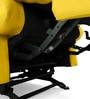 Manual Recliner with Glider in Yellow Colour by Comfort Couch