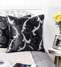 Mapa Home Care Black Duppioni 16 x 16 Inch Filigree Cushion Cover