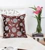 Mapa Home Care Copper Duppioni 16 x 16 Inch Floral Cushion Cover