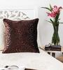 Mapa Home Care Copper Duppioni 16 x 16 Inch Spotted Cushion Cover