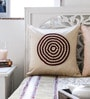 Mapa Home Care Cream & Maroon Duppioni 16 x 16 Inch Textured Design Cushion Cover