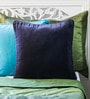 Dark Blue Cotton 16 x 16 Inch Solid Cushion Cover by Mapa Home Care