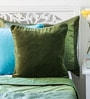 Green Cotton 16 x 16 Inch Solid Cushion Cover by Mapa Home Care