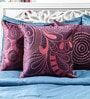 Multicolor Duppioni 16 x 16 Inch Embroidered Cushion Cover by Mapa Home Care