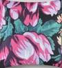 Mapa Home Care Multicolor Duppioni 16 x 16 Inch Flowers Cushion Cover