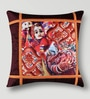 Mapa Home Care Multicolor Duppioni 16 x 16 Inch Rajasthani Dolls Printed Cushion Cover