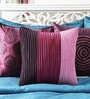 Mapa Home Care Pink & Purple Duppioni 16 x 16 Inch Block Textured Printed Cushion Cover