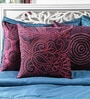 Purple Duppioni 16 x 16 Inch Embroidered Cushion Cover by Mapa Home Care