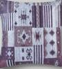 Mapa Home Care Purple Duppioni 16 x 16 Inch Geometric Cushion Cover
