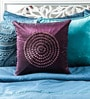 Purple Duppioni 16 x 16 Inch Textured Design Cushion Cover by Mapa Home Care