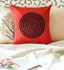 Mapa Home Care Red & Black Duppioni 16 x 16 Inch Textured Design Cushion Cover