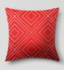 Mapa Home Care Red Duppioni 16 x 16 Inch Studded Work Cushion Cover