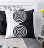 Mapa Home Care White & Black Duppioni 16 x 16 Inch Textured Cushion Cover
