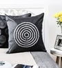 White & Grey Duppioni 16 x 16 Inch Textured Design Cushion Cover by Mapa Home Care