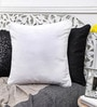 White Cotton 16 x 16 Inch Solid Cushion Cover by Mapa Home Care