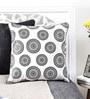 Mapa Home Care White Duppioni 16 x 16 Inch Aboriginal Cushion Cover