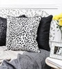 White Duppioni 16 x 16 Inch Spotted Cushion Cover by Mapa Home Care