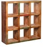 Belinda Solid Wood Book Shelf in Distress Finish by Bohemiana