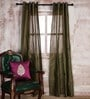 Marigold 84 x 41 Inch Green Cotton Door Curtain