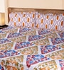 Mark Home Geometric Motifs Multicolour Cotton Abstract Bed Sheet (with Pillow Covers) - Set of 3
