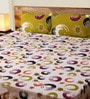 Mark Home Circles Green & Purple Cotton Abstract Bed Sheet (with Pillow Covers) - Set of 3