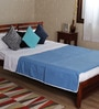 Royal Blue Cotton Solid 100 x 90 Inch Double Bed Dohar by Mark Home