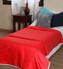 Red Cotton Solid 90 x 54 Inch Single Bed Dohar by Mark Home
