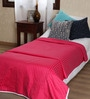 Ribbon Red Cotton Solid 90 x 54 Inch Single Bed Dohar by Mark Home