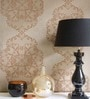 Brown Non Woven Fabric Motif Wallpaper by Marshalls WallCoverings