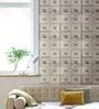 Beige Non Woven Fabric Locker Print Wallpaper by Marshalls WallCoverings