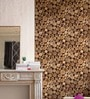 Brown Non Woven Fabric Log Pile Wallpaper by Marshalls WallCoverings