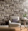 Grey Non Woven Fabric Abstract Design Wallpaper by Marshalls WallCoverings
