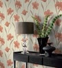 Cream Non Woven Fabric Floral Wallpaper by Marshalls WallCoverings