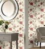 Cream Non Woven Fabric Floral Design Wallpaper by Marshalls WallCoverings