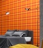 Marshalls Wallcoverings Yellow Non Woven Fabric Checkered Wallpaper