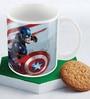Marvel Civil War-Captain America Art Multicolour Ceramic 350 ML Mug