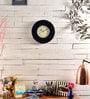 Black MDF 12 Inch Round Wall Clock by Marwar Stores