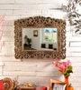Marwar Stores Brown MDF Designer Frame Mirror
