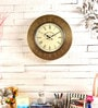 Gold MDF 18 Inch Round Wall Clock by Marwar Stores
