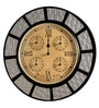 Multicolour MDF 18 Inch Round Wall Clock by Marwar Stores