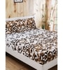 Lenox Neutral Printed 1 Double Bed Sheet with 2 Pillow Covers by Maspar