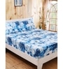 Wayfair Blue Printed 1 Double Bed Sheet with 2 Pillow Covers by Maspar