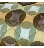 Green Fabric Single Size Quilt by Maspar