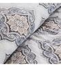 Grey 100% Cotton Queen Size Duvet Cover - Set of 2 by Maspar