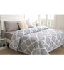 Grey Fabric Queen Size Quilt by Maspar