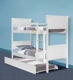 McAlfred Bunk Bed with Pull-Out in White